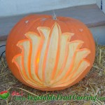 Lotus Design pumpkin carving