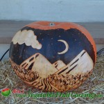 Night Mountain Landscape Pumpkin