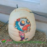 Cartoon Zombie pumpkin carving