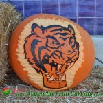 Tiger pumpkin carving