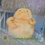 Jabba the Hut pumpkin carving