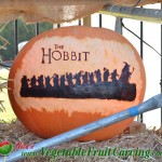 The Hobbit pumpkin carving