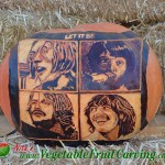 Beatles pumpkin carving