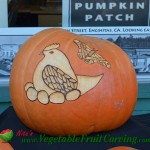 bird and butterfly pumpkin carving