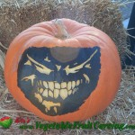 Evil face pumpkin carving