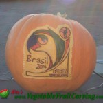 World Cup Brasil pumpkin carving