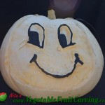 Happy face pumpkin carving