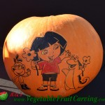 Dora the Explorer pumpkin carving
