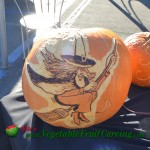 witch Halloween carving