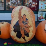Superman pumpkin carving