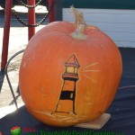 Lighthouse Halloween pumpkin