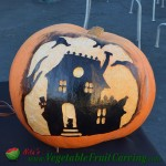 Haunted House Halloween pumpkin carving
