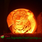 Leopard pumpkin carving