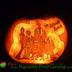The Addams Family pumpkin carving