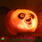 Panda pumpkin carving