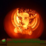 Bride of Frankenstein Halloween pumpkin carving