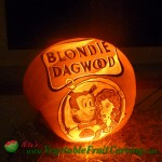 Blondie Dagwood pumpkin carving