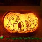 101 Dalmatians pumpkin carving