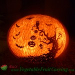 Halloween tree pumpkin carving