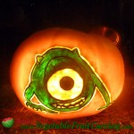 Monsters Inc pumpkin carving