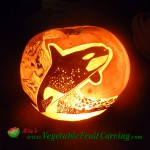 orca pumpkin carving