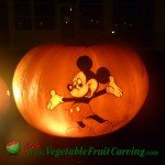Mickey Mouse Halloween pumpkin carving