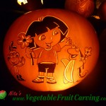 Dora the Explorer Halloween pumpkin