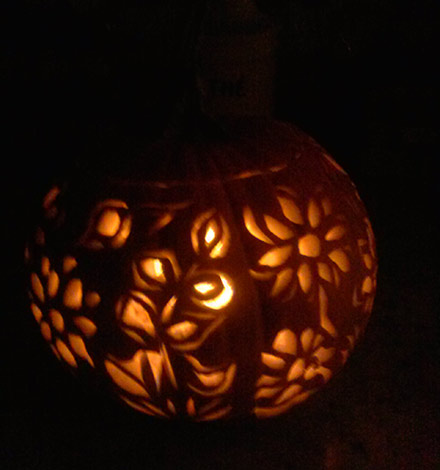 pumpkin lantern by Carolyn Clark