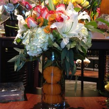 pumpkins in vase