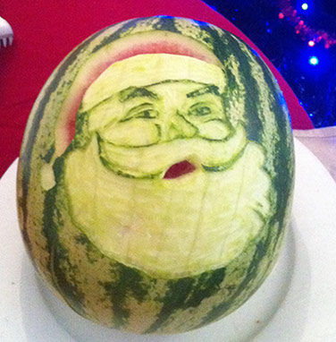 Watermelon Santa by Brent Best