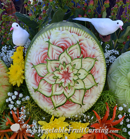 Thai style watermelon carving by Nita Gill