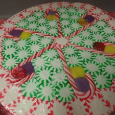 The addition of candy canes along with colored candies is a fun variation.