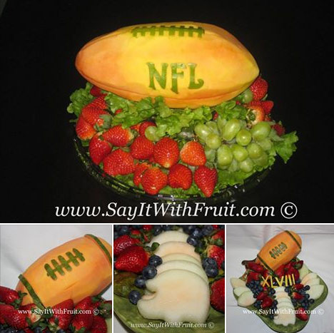 football fruit carving by Aneta