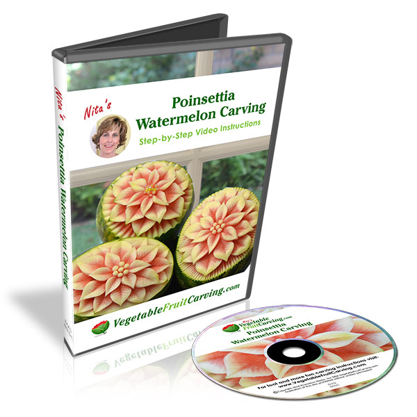 poinsettia watermelon carving dvd