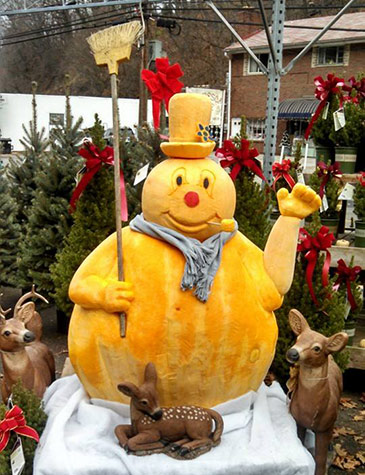 snowman pumpkin by Jim Morgan
