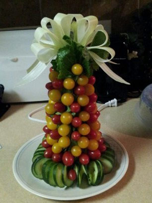 Tomato Christmas tree by Rosemary Applewhite