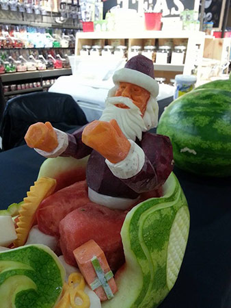 carve vegetable santa