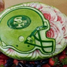 Mariano Orozco's 49ers watermelon carving