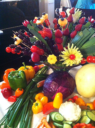 fruit and vegetable bouquet