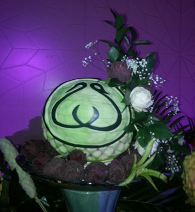 wedding watermelon carving by Saada