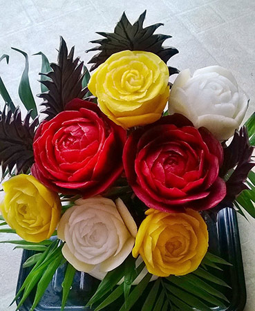 multi-colored beet roses by Smita Jaiswal