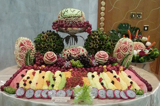 Saada's wedding fruit display