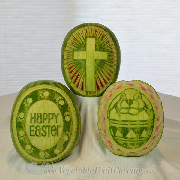 Easter Watermelon carving patterns