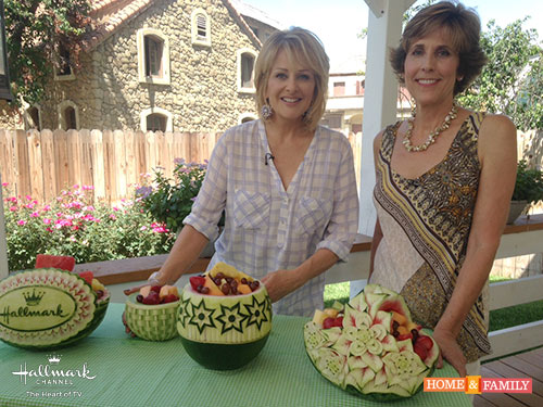 Host Cristina Ferrare with Nita Gill on Hallmark's Home and Family Show