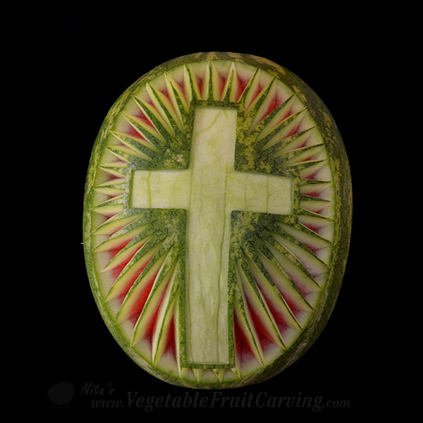 Watermelon carving patterns easter