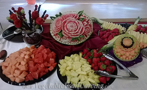 Intermediate fruit carvings made and arranged by Smita Patel