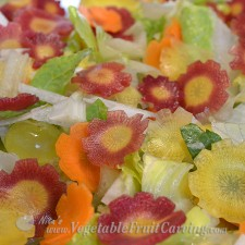 carrot flowers in salad