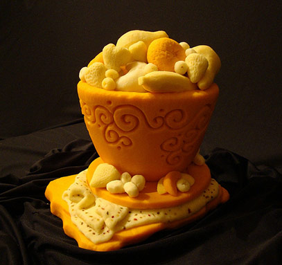 carved cheese fruit bowl