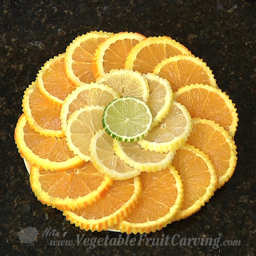 citrus fruit plate