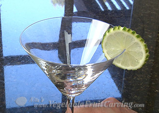lime drink garnish